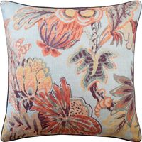 Blue & Cinnamon Floral Gala Pillow by Ryan Studio $240.00