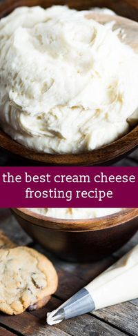 The best cream cheese frosting recipe for your cakes, cupcakes and cookies. Hints for making frosting with the best flavor and texture. homemade frosting recipe / easy frosting recipe / cream cheese via