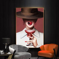 Framed wall art Oil Paintings on Canvas art Lady portrait painting extra Large wall art Nordic Wall Picture $399.00