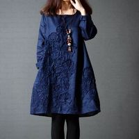 Ladies Plus Size Embroidery Casual Dress $30.99