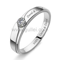 Engagement Ring for Men with Custom Names 4mm https://www.gullei.com/popular-engagement-rings-for-men-with-custom-names.html