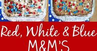 Red, White and Blue M&M'S are one of my favorite M&M'S! I just love the patriotic mix and I think they are perfect for my favorite M&M'S Cookie Bars. Bake these