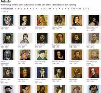 If you're a teacher, you can now draw on paintings by nearly 20,000 artists, in a wide range of styles painted over the last 800 years. Most of the great masters are well represented, with some of their best known works.