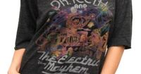 Junk Food Clothing - Women's Tops - Short Sleeve - The Muppets Dr. Teeth and The Electric Mayhem Vintage Triblend Slouch Raglan