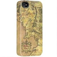 The Lord of the Rings iPhone case features a map of Middle-earth.