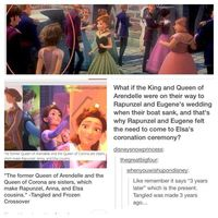 Frozen & Tangled crossover. This makes so much sense! I'm happy and sad at the same time.