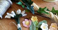 Just Pootling: amazing crochet flower mantel piece Spring has Sprung ...