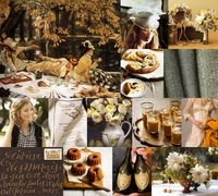 """When I came across this 1876 painting by James Tissot, I knew I had to create an inspiration board with it �€"""" I love autumn, and I love picnics, so it was perfec"""