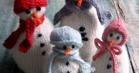 Colorful Crafting with Jen: SnoBuddy Family from Knitting at KNoon - Knitting Crochet Sewing Crafts Patterns and Ideas! - the purl bee