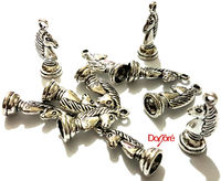 Pack of 30 Silver Coloured Chess Knight Charms. 21mm x 8mm Game Horse Pendants. £6.19