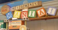 Compete against your friends and family in a series of frantic midway-style interactive games in Toy Story Midway Mania. Guests board a cart that moves from 3-D