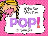 FREE! POP Sight WORD Game: I hope you enjoy this fun Sight word game that will give your students practice with reading and spelling the sight words. Simply, print, la...