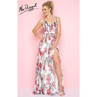 Floral Multi Flash 66096L - Long High Slit Open Back Dress - Customize Your Prom Dress