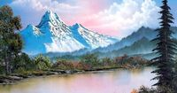 Oil Paintings | Free Picture Art Bob Ross landscape painting 2 - oil painting