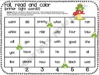 Roll, Read and Color (Primer Sight Words) from TheMoffattGirls FREE on Teachers Notebook.