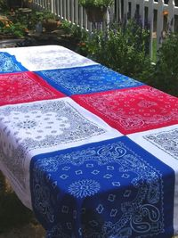 Patriotic Bandana Tablecloth, 4th of July, Memorial Day, Picnic Table