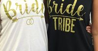 Bride Tribe - Bulk Bridal Party Tank Tops Bachelorette Party Tank tops for your best friends. Great for a girls night out