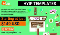 Pick out the Echyip and Goldcoder HYIP Script templates from HYIPTemplates to make a magnetic website. For the best outlook, here you can buy web design at a reasonable price. For more details, please visit the website. https://www.hyiptemplates.com
