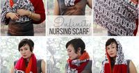 This infinity nursing scarf makes a stylish and practical gift for a new mom. She can wear it different ways, and open it up to use as a nursing cover-up.
