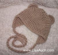 FREE Crochet Patterns: Free Crochet Pattern for Baby Beanie with Earflaps and Ears