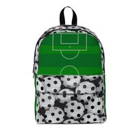 Soccer Balls with Soccer Field Classic Large Backpack $58.00