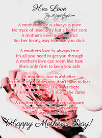 Looking for mothers day poems to write in a card? Your mom is special, so look through these poems and touch your mothers heart with these short and sweet sentimental poems on Mothers Day.