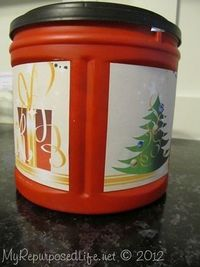 printables for Folger's coffee containers to make them pretty for storing things or as giveaway containers