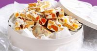 Get into the spirit of Christmas with these white chocolate and apricot slices.