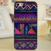 Clover Print Bohemia Style Phone Shell Case for iphone5/5S/4/4S