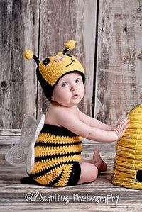 Bumble Bee Suit-newborn to 11 years (Bug suit) ~ free pattern �›�