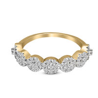 100% Pure Diamond Ring 1/2 ct Natural Diamond Ring For Women I1-Clarity 10K Yellow Gold Diamond Jewelry Gifts For Women (GH-Color) $613.19