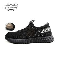 New exhibition breathable safety shoes men's Lightweight summer anti-smashing piercing work sandals Single mesh sneakers 35-46 $61.00