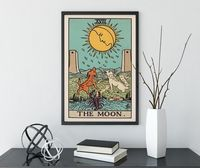 The Moon - Tarot Card Print - The Moon Poster, No Frame $20.00