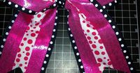 I love a good craft,*and lately I've been all about making bows. So, I decided my daughter's team needed giant cheer bows. And, because I've learned the importa