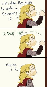 OH. MY. GOSH. I DON'T KNOW IF I SHOULD LAUGH OR CRY! ANOTHER ONE!! ANOTHER LOKI FROZEN CROSSOVER!! YESSSSS