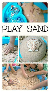 Make your own taste-safe play sand with just 2 simple ingredients! Great for a beach theme, as well as sensory play and learning.