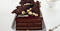 Chocolate Hazelnut Cake with Praline Chocolate Crunch Recipe