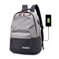 25L Outdoor USB Anti-Theft Laptop Backpack Travel Business School Bag Rucksack