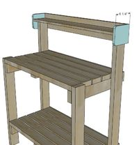 Ana White   Simple Potting Bench - DIY Projects