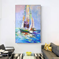 Framed painting nautical wall art Sea wave Painting original acrylic painting on canvas heavy texture palette knife extra Large Wall Picture $99.00