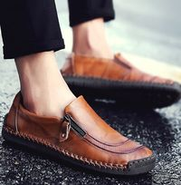 Breathable Waterproof Leather Moccasins Casual Men Loafers Shoes,NEW,on Sale!