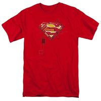 Superman - Super Mech Shield Short Sleeve Adult 18/1 $21.91https://www.appareltreats.com