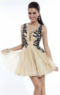 Short Lace Sheer Homecoming Dresses 6632 by Rachel Allan