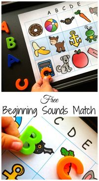 Need an easy beginning letter sound review? Check out this free alphabet activity. All you need is the printable, magnetic letters, and a cookie tray.
