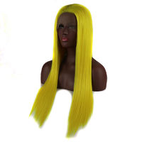 Bright Yellow Straight Lace Front Wig
