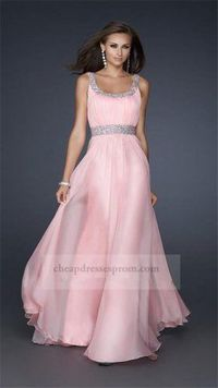 Discount Long Pink Prom Dresses 2014