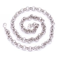 """Men's Luxury Silver Plated 10mm 24"""" Solid Belcher Bling Chain Necklace £23.70"""