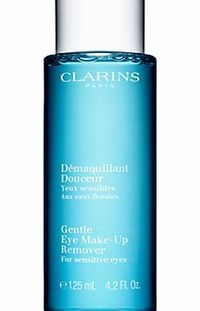 Clarins Gentle Eye Makeup Remover Lotion, 125ml An ultra-gentle, oil-free formulation which very gently removes makeup, moisturises the skin and strengthens and conditions the lashes. (Barcode EAN=3380811182100) http://www.comparestoreprices.co.uk...