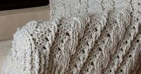 CHUNKY CABLES DECORATIVE THROW - a crochet pattern by KIM MILLER for Knot*Sew*Cute via PatternFish