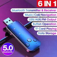 Mini bluetooth 5.0 Wireless Dongle Adapter Receiver Transmitter USB AUX FM Output Support Navigation for Computer PC Laptop